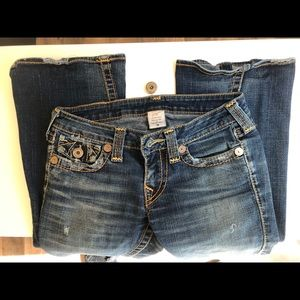 DAMAGED True Religion Bootcut Jeans Size 28